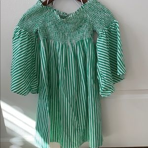Zara woman's collection green striped top